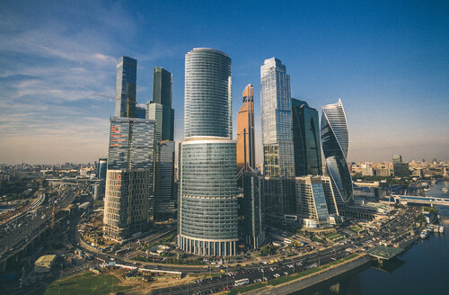 Skyscrapers of Moscow city in Russia - LUXF02152