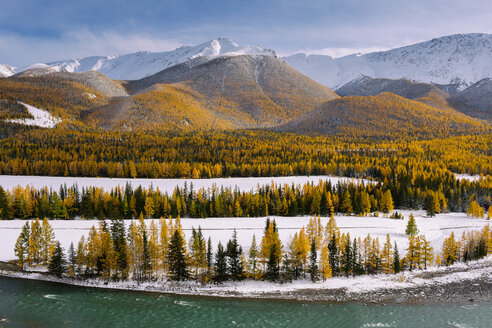 Beautiful scenic view of the lake by the mountains - INGF05290