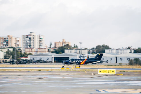 Police plane during start - OCMF00002