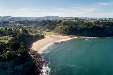 Spain, Asturias, Aerial view of beach - MGOF03824