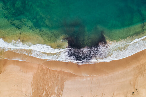 Spain, Asturias, Aerial view of beach from above - MGOF03830
