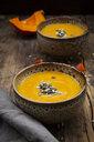 Pumpkin soup with pumpkin and sunflower seeds - LVF07506