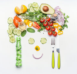 High angle view of vegetables - INGF05421