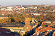 Germany, Bavaria, Wuerzburg, Old town, Neubaukirche, Missio clinic in the background - NDF00831