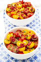 Oriental tomato salad with pomegranate seeds and mint - LVF07523