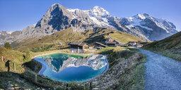 Switzerland, Bernese Oberland, Kleine Scheidegg, Eiger, Moench and Jungfrau - STSF01786