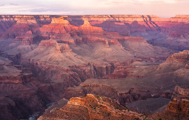 USA, Arizona, Grand Canyon National Park, Grand Canyon in the evening - FCF01563