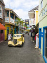 Caribbean, Sint Maarten, Vintage car in Phillipsburg - AM06154