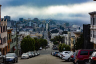 USA, California, San Francisco, cityview in fog - FCF01598