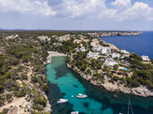 Spain, Balearic Islands, Mallorca, Llucmajor, Aerial view of bay of Cala Pi - AMF06158