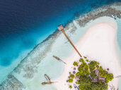 Aerial view of island at Maldives - CAVF53442