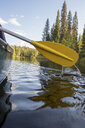 Finland, Oulanka National Park, boat trip in a canoe on river - PSIF00157