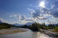 Germany, Bavaria, Upper Bavaria, Werdenfelser Land, Isar river near Wallgau - LBF02177