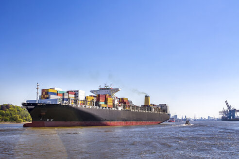 Germany, Hamburg, Container ship - PUF01332