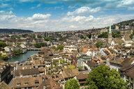 Picturesque cityscapealong river, Zurich, Switzerland - AURF07745