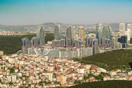 Aerial view of modern houses and skyscrapers, Istanbul, Turkey - AURF07766