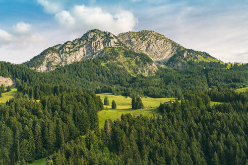 Landscape with mountains, hills and forest, Bern, Switzerland - AURF07838