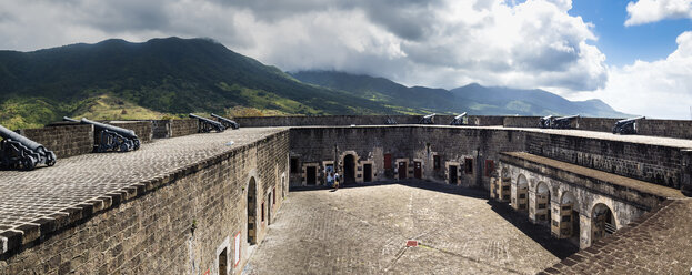 Caribbean, Lesser Antilles, Saint Kitts and Nevis, Basseterre, Brimstone Hill Fortress - AMF06217