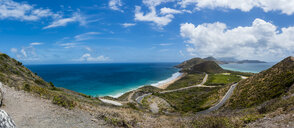 Caribbean, Lesser Antilles, Saint Kitts and Nevis, Basseterre, View to salt pond - AMF06223
