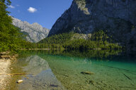 Germany, Bavaria, Upper Bavaria, Berchtesgaden Alps, Berchtesgaden National Park, Salet, Lake Obersee - LBF02244