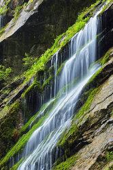 Water cascades down the cliffs of the famous Wimbachklamm, Berchtesgaden National Park, Bavaria, Germany - RUEF02059