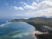 Indonesia, Sumbawa, West Sumbawa, Aerial view of Jelengah beach - KNTF02330