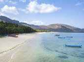 Indonesia, Sumbawa, West Sumbawa, Aerial view of Jelengah beach - KNTF02333