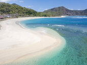 Indonesia, West Sumbawa, Aerial view of Rantung beach - KNTF02348