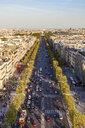 France, Paris, cityscape with Avenue des Champs-Elysees - WDF04875