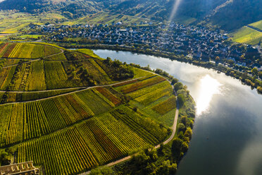 Germany, Rhineland Palatinate, Cochem-Zell, Bremm, Moselle Loop and Moselle River - AMF06283