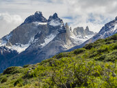 Chile, Patagonia, Torres del Paine National Park, Cerro Paine Grande and  Torres del Paine - AMF06295