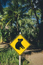 Australia, Magnetic Island, Koala Animal Crossing Sign - GEMF02566