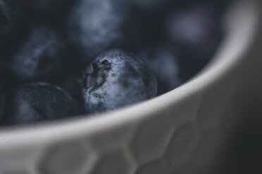 Close-up of blueberries in bowl - CAVF56374