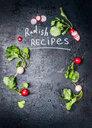 Radish recipes background - INGF07825