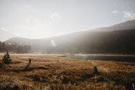 Switzerland, Engadine, morning sun at Lake Staz - LHPF00141