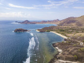 Indonesia, West Sumbawa, Kertasari, Aerial view of beach - KNTF02359