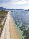 Indonesia, West Sumbawa, Kertasari, Aerial view of beach - KNTF02365