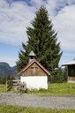 Austria, Vorarlberg, Allgaeu Alps, Little Walser Valley, Amansalpe, St. Wendelin Chapel - WIF03678