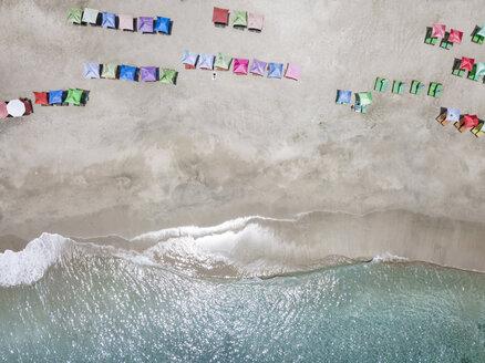 Indonesia, Bali, Karangasem, Aerial view of virgin beach - KNTF02398