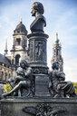 Germany, Dresden, monument of Ernst Rietschel at Bruehl's Terrace - JATF01086