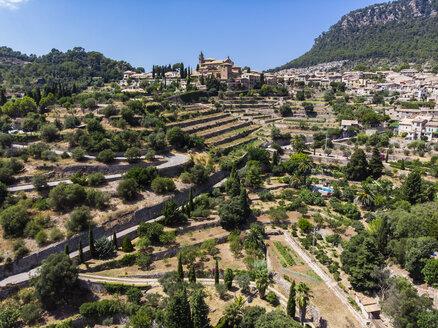 Spain, Baleares, Mallorca, Valldemossa, Parish Church Sant Baromeu and Cartuja de Valldemosa - AMF06302