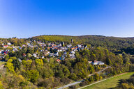 Germany, Hesse, Aerial view of Weilrod, Altweinau Castle - AMF06315