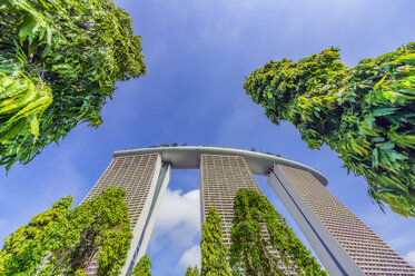 Singapore, Marina Bay Sands Hotel, low angle view - THA02394