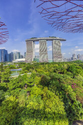 Singapore, Garden by the sea and Marina Bay Sands Hotel - THA02400