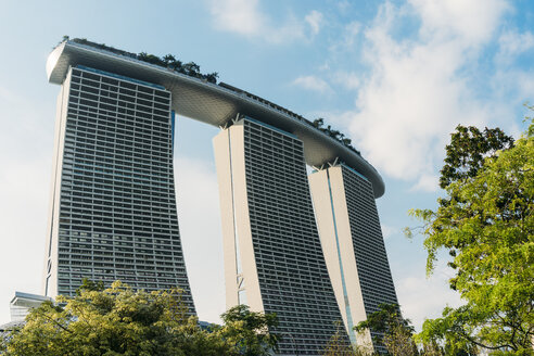 Singapore, Marina Bay Sands seen from Gardens by the Bay - GEM02630