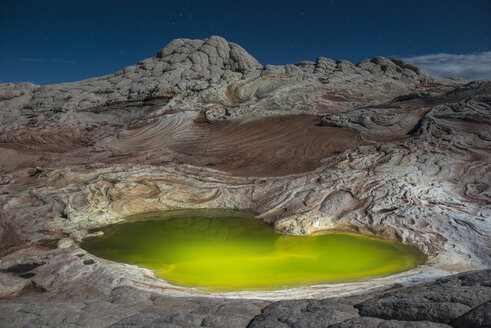 High angle majestic view of pond at Marble Canyon against sky - CAVF57673