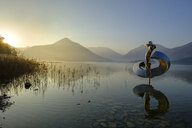 Germany, Upper Bavaria, Lake Schliersee, Aphrodite, sculpture by Otto Wesendonck - LB02280