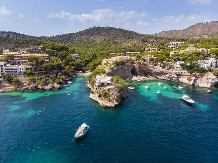 Spain, Balearic Islands, Mallorca, Region Calvia, Costa de la Calma, Peguera, Cala Fornells, coast and nature harbour - AMF06348