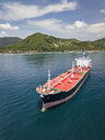 Indonesia, Bali, Aerial view of oil tanker - KNTF02451
