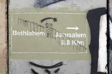 Palestine, West Bank, Bethlehem, Border, Border wall, graffiti - PST00279